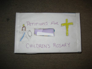 Example of the Petition box used at St. Thomas Apostle Church West Hartford CT